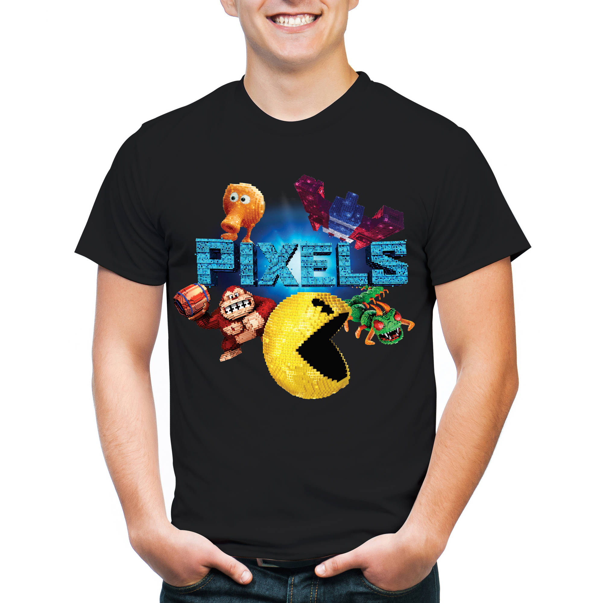 Pixels Men's Group Short Sleeve T-Shirt