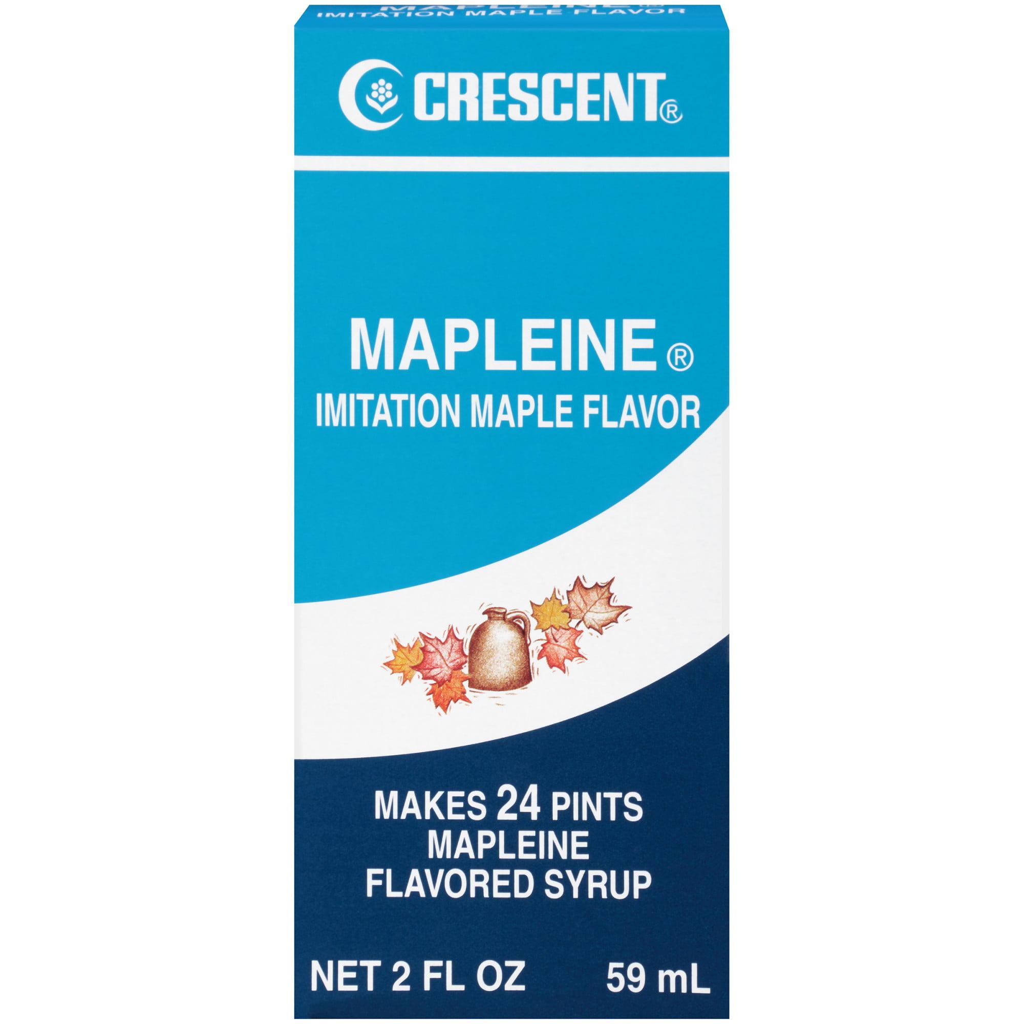 (2 Pack) Crescent Mapleine Imitation Maple Flavor, 2 fl oz