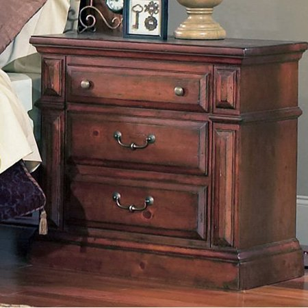 Progressive Furniture Torreon 3 Drawer Nightstand - Antique Pine