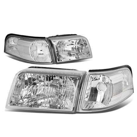 For 2006 To 2017 Mercury Grand Marquis Headlight Chrome Housing Clear Corner Headlamp 07 08 09 10 Left Right