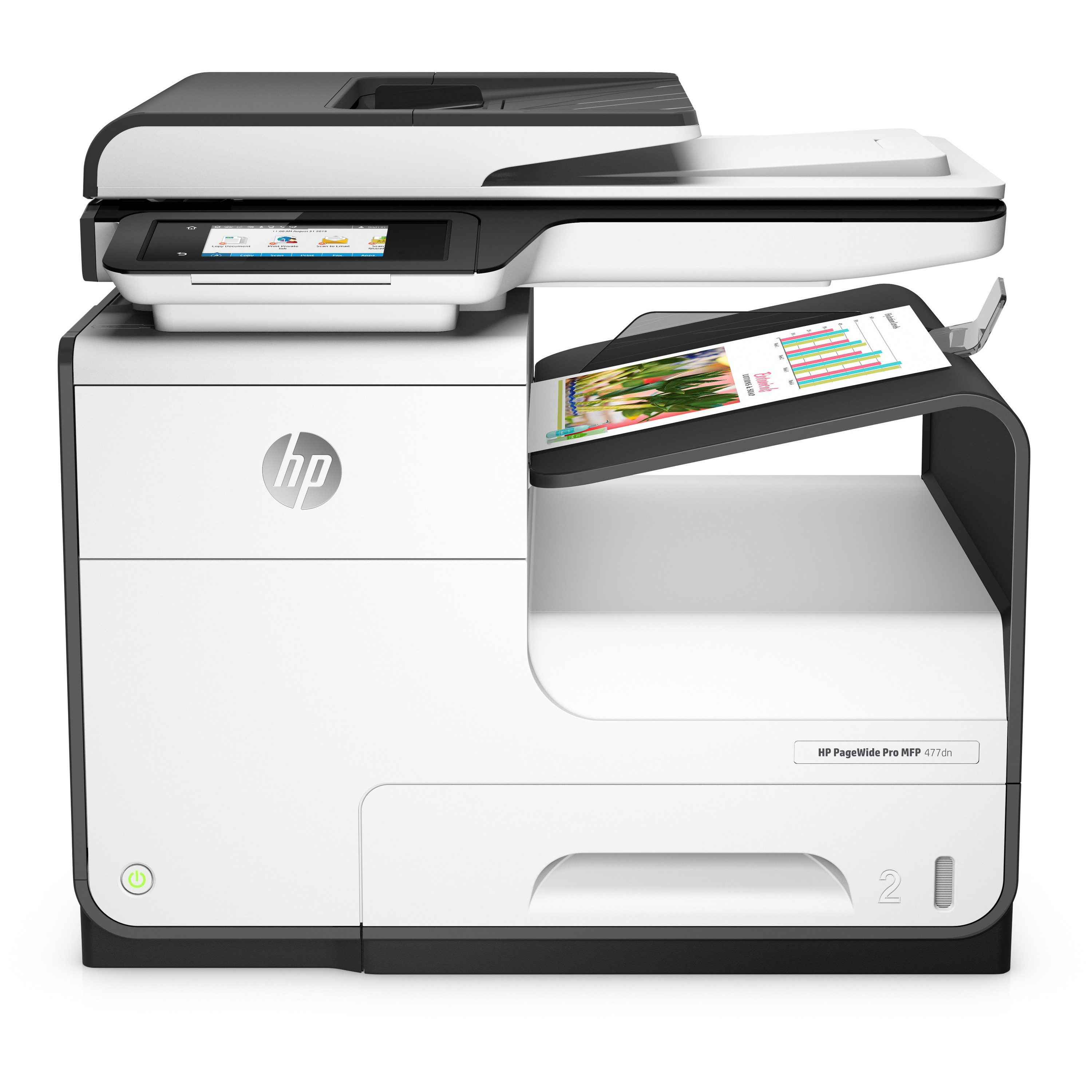HP PageWide Pro 477dn Page Wide Array Multifunction Printer - Color - Plain Paper Print - Desktop