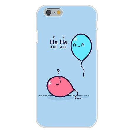 Apple iPhone 6 Custom Case White Plastic Snap On - 'Helium' Balloon Science - Custom Balloon