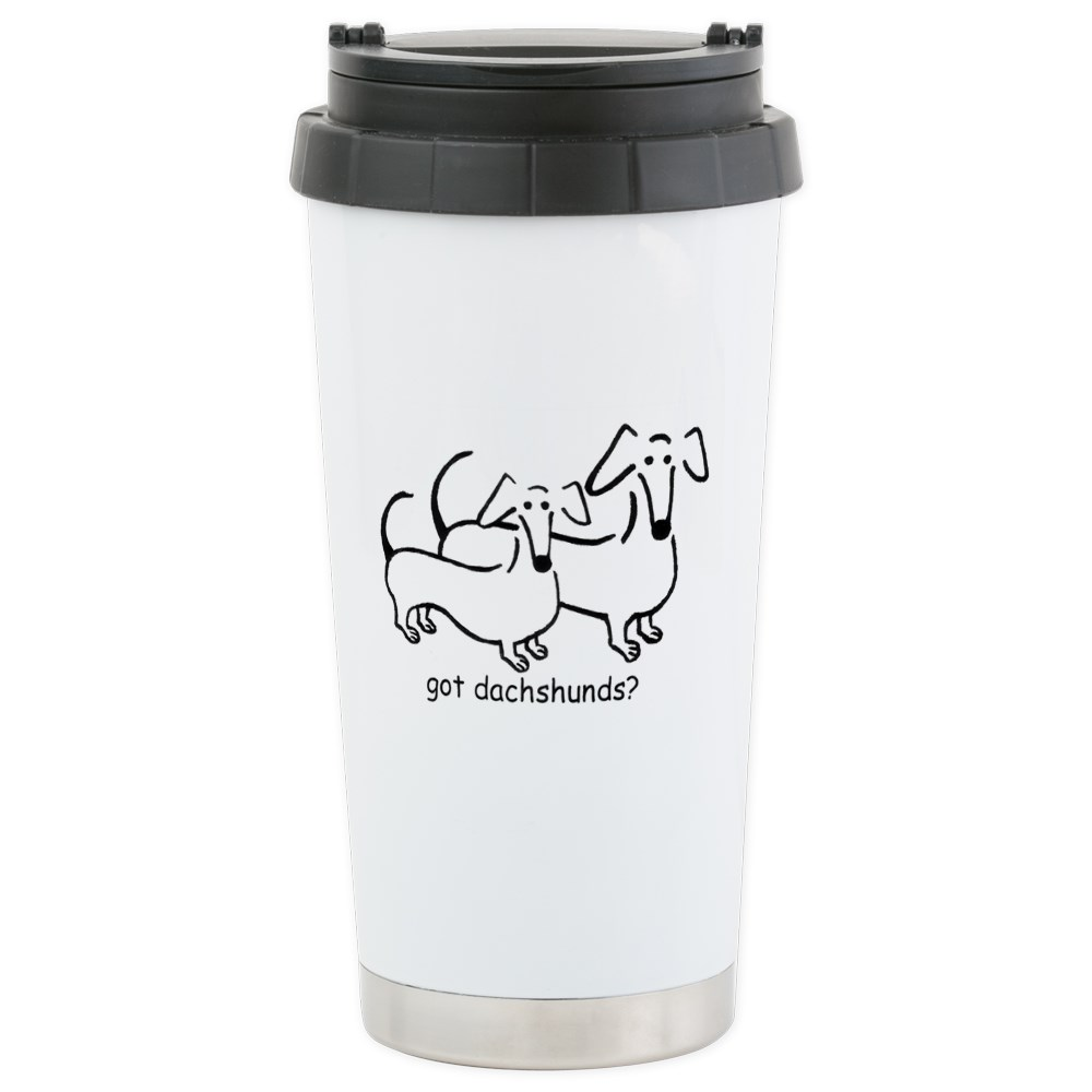 CafePress - Got Dachshunds? - Stainless Steel Travel Mug, Insulated 16 oz. Coffee Tumbler