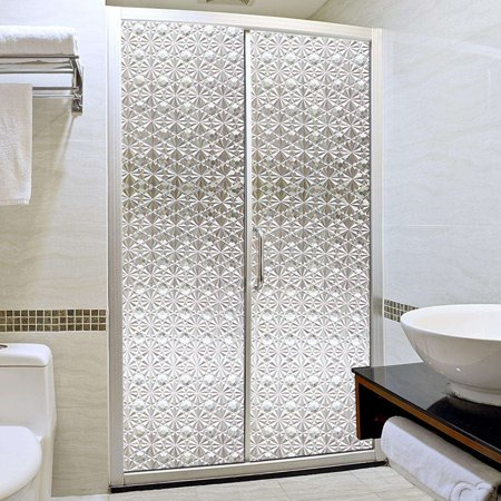 Garosa 3D Privacy Window Films Sticker Non Adhesive Static