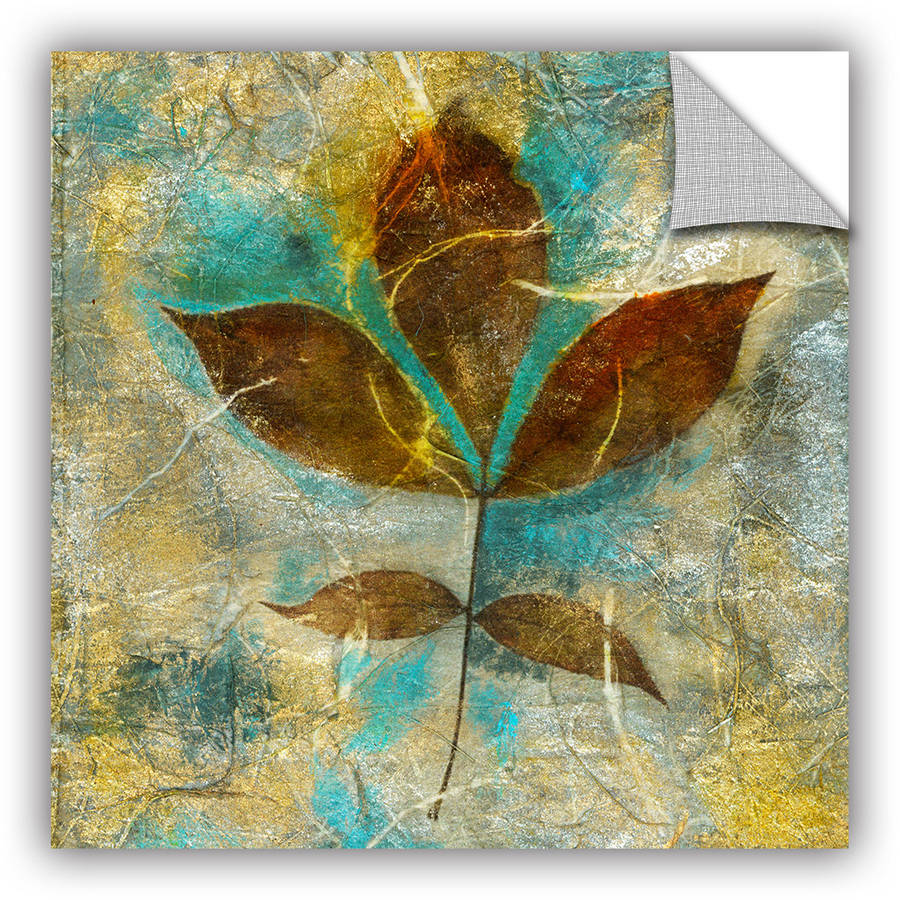 "ArtAppealz Elena Ray ""Branch With Golden Leaves"" Removable Wall Art"