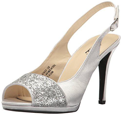Annie Shoes Women's Bongo Dress Sandal, Silver, 6 M US