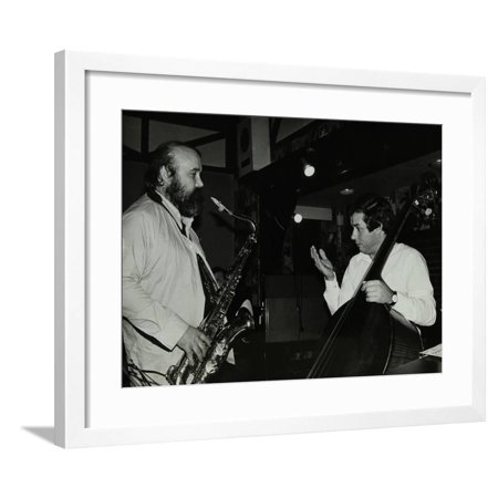 Don Weller and Chris Laurence Playing at the Bell, Codicote, Hertfordshire, 1980 Framed Print Wall Art By Denis Williams
