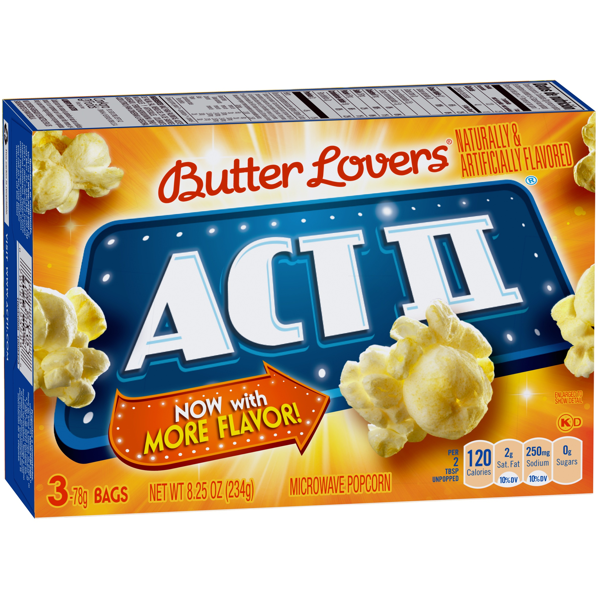 ACT II Butter Lovers Microwave Popcorn, 8.25 Ounce (3 Count) by ConAgra Foods Inc.