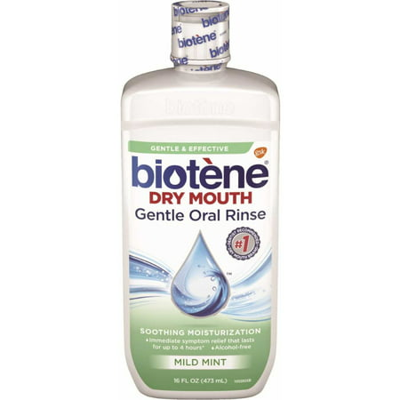 Biotene Dry Mouth Gentle Oral Rinse, Mild Mint, 16 Ounces each -  Biot��ne