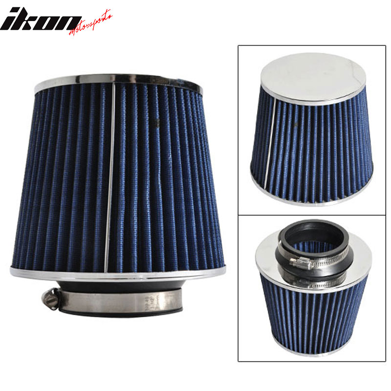 Fits 3 Inch Race Performance Cold Air Intake Cone Filter Blue 02-11 Lancer