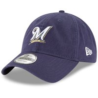 new concept bb8b5 3323e Product Image Milwaukee Brewers New Era Game Replica Core Classic 9TWENTY  Adjustable Hat - Navy - OSFA