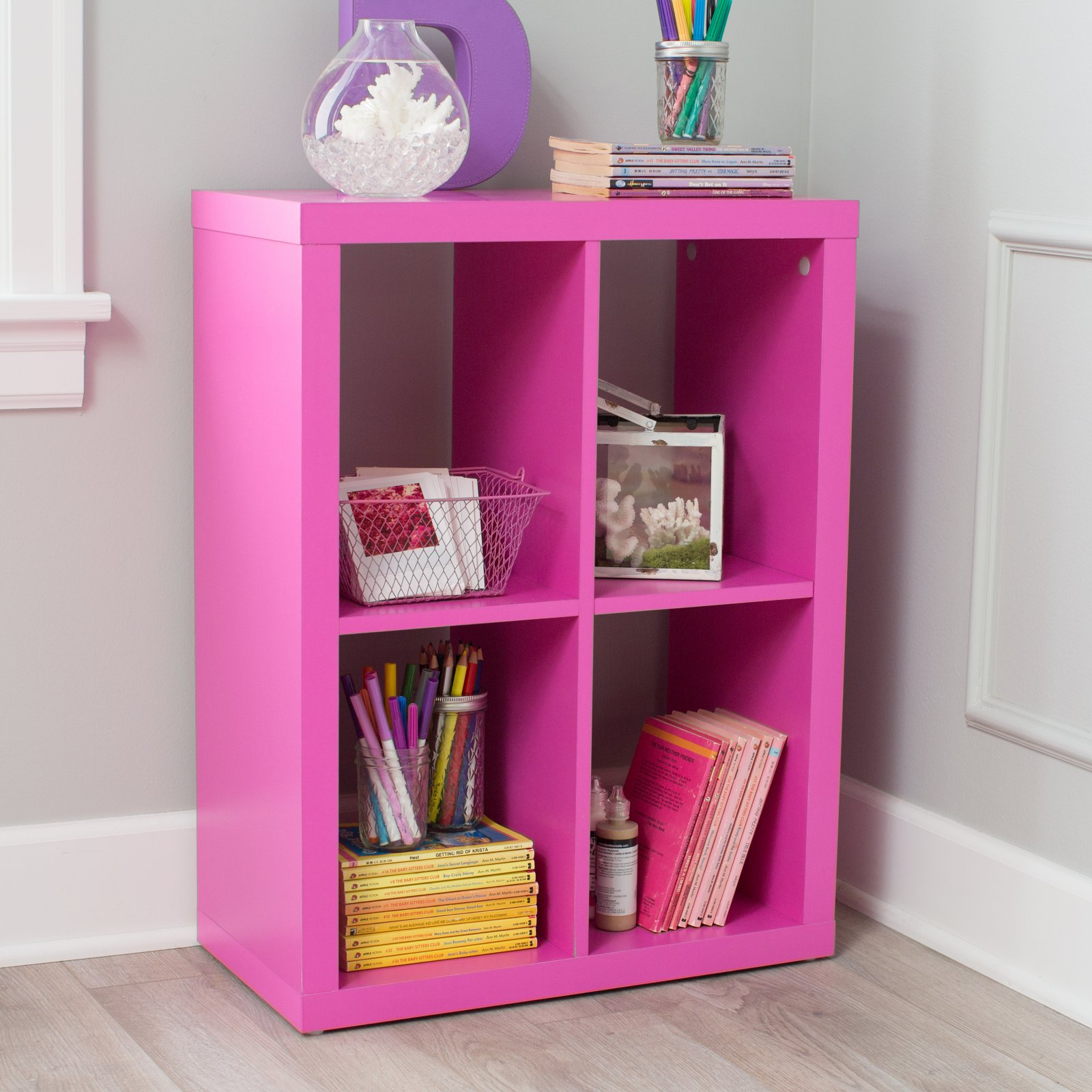 Classic Playtime Mini Writing Desk with Optional Bookcase - Pink