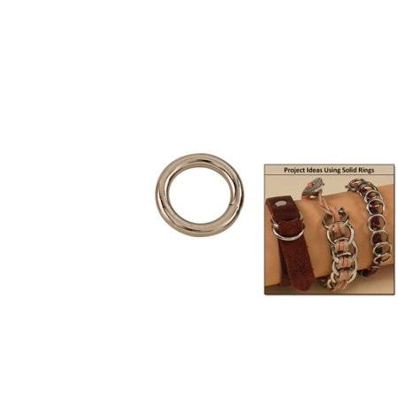 """Tandy Leather Solid Rings 1/2"""" (12 mm) Nickel Plate 10/pk 1180-04"""