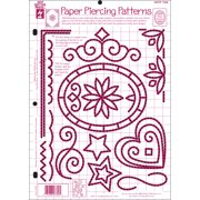 """Hot Off The Press Template 8.5""""X11""""-Paper Piercing Patterns"""