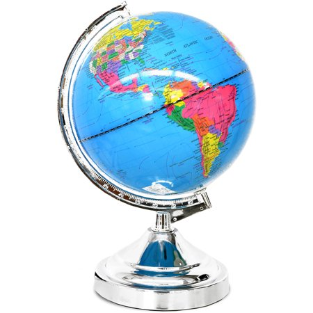 - Mainstays Rotating Globe lamp with Touch Feature, Multiple Colors