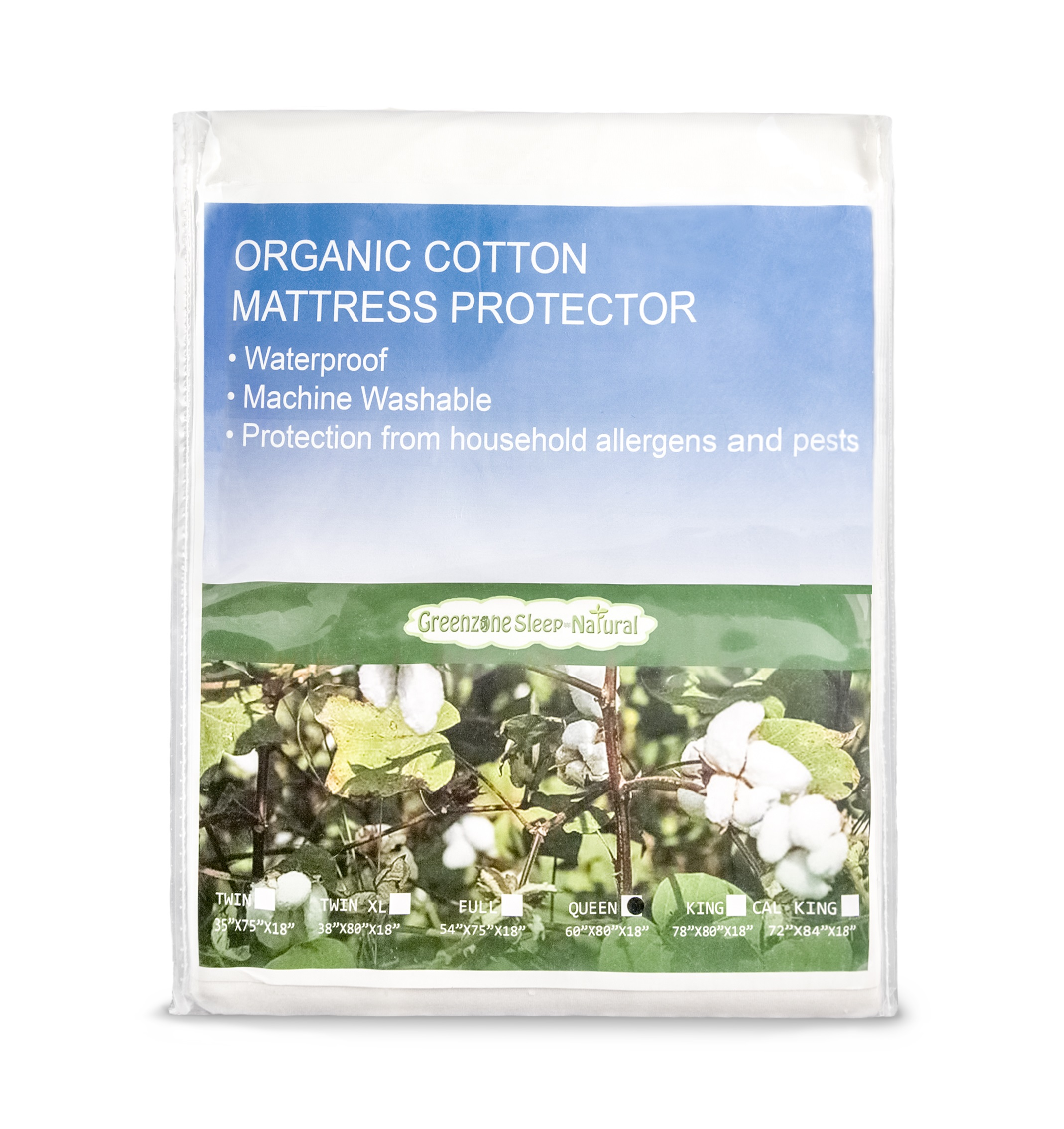 Greenzone Organic Smooth Tencel Waterproof Mattress Protector