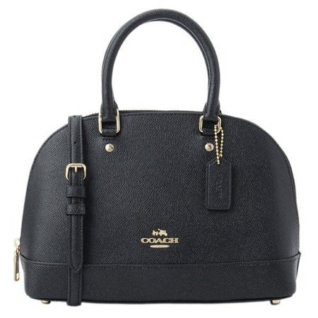 NEW WOMEN'S COACH (F27591) BLACK CROSSGRAIN LEATHER MINI SIERRA SATCHEL HAND BAG Ladies Black Handbag