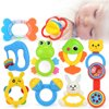 Baby Rattles Teether Toys, Infant Shaking Bell Rattle Set Early Educational Toys for 3, 6, 9, 12 Month Baby Infant, Newborn