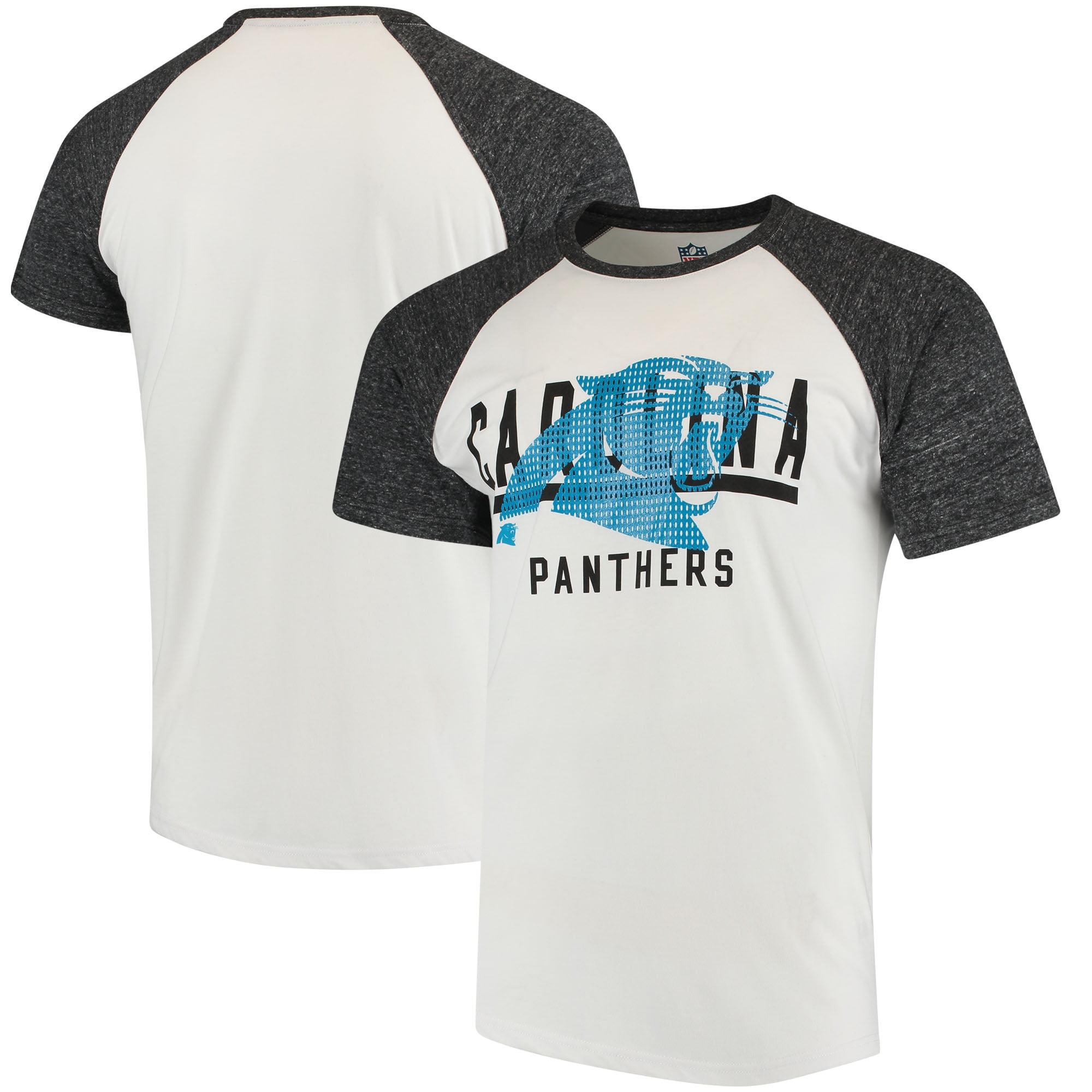 Carolina Panthers G-III Sports by Carl Banks Heritage Raglan Tri-Blend T-Shirt - White/Heathered Gray