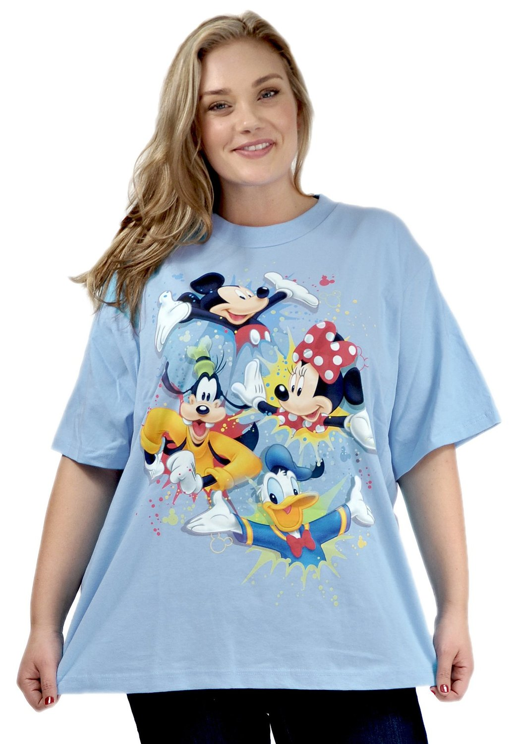 Disney Mickey Mouse Mickey Mouse Plus Size T Shirt Minnie Goofy