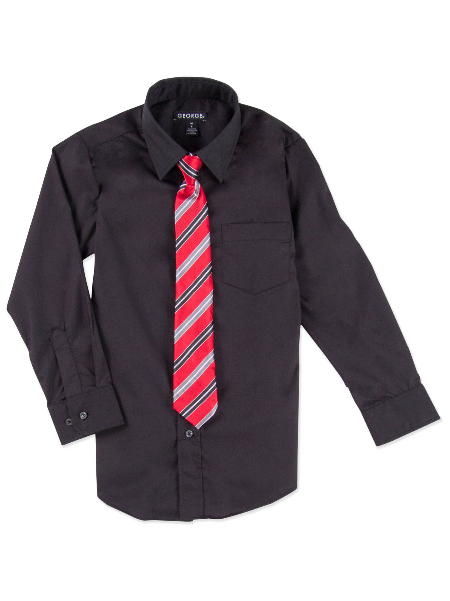 George Boys Packaged Dress Shirt-Tie