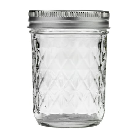Ball Quilted Crystal Half-Pint 8Oz Mason Jars w/Lids & Bands, 12 Count - Ball Jars Wholesale