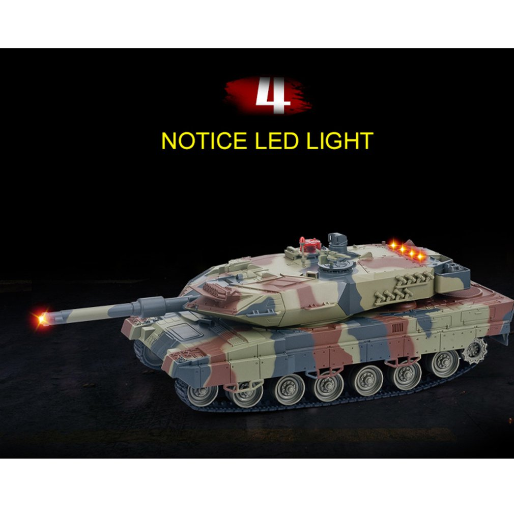 516-10 1/24 RC Tank IR Remote Control Toys Simulation Infrared Battle Tank