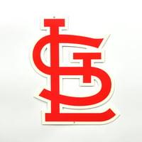 "St. Louis Cardinals ""STL"" 12"" Steel Sign - No Size"