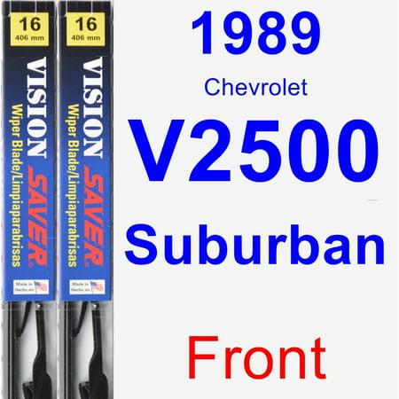 1989 Chevrolet V2500 Suburban Wiper Blade Set/Kit (Front) (2 Blades) - Vision Saver