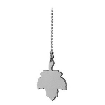 Brushed Pewter Pull Chain with Maple Leaf Brushed Pewter Pull Chain
