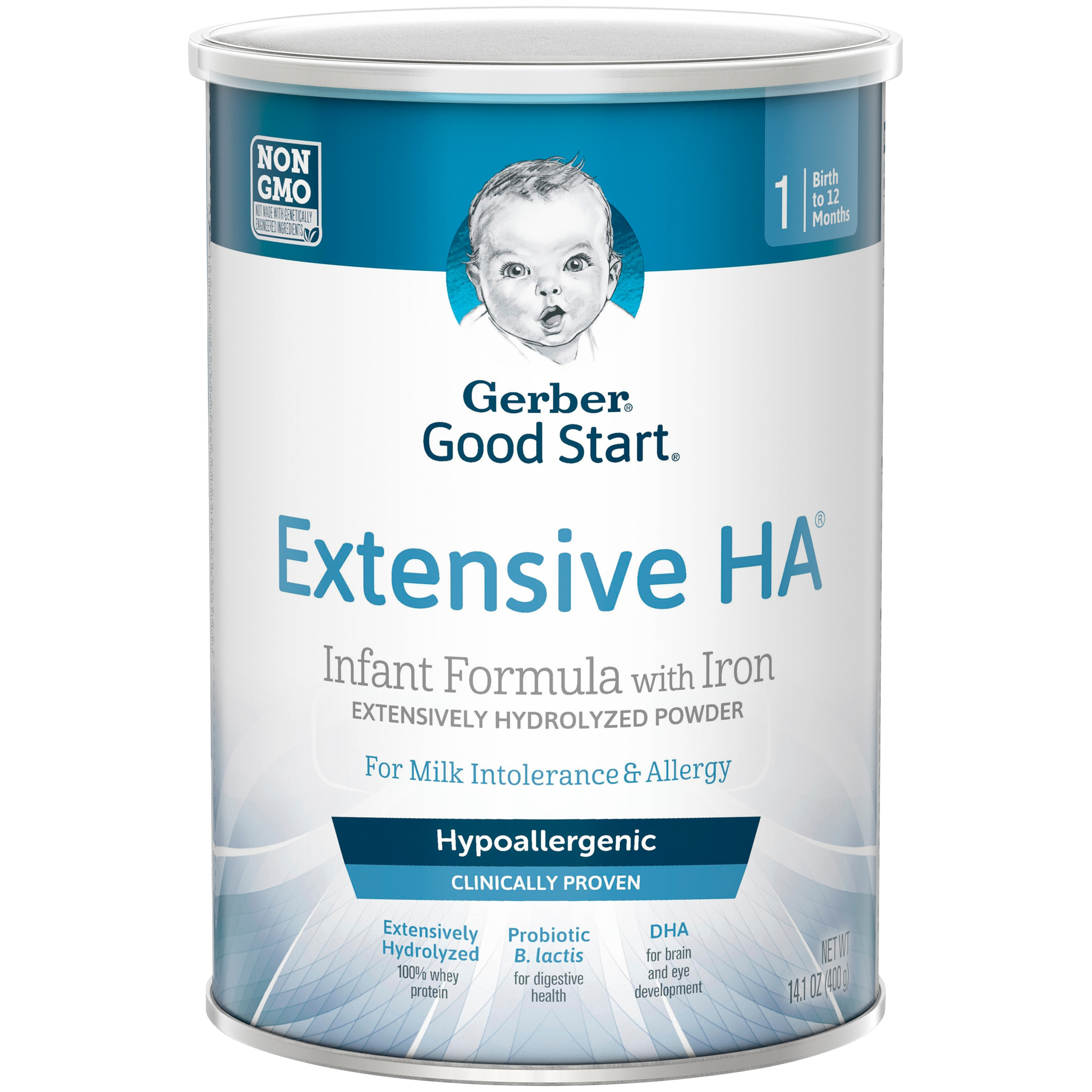 Gerber Extensive HA Hypoallergenic Powder Infant Formula with Iron, 14.1 oz