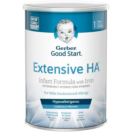 Gerber Extensive HA Hypoallergenic Powder Infant Formula with Iron, 14.1