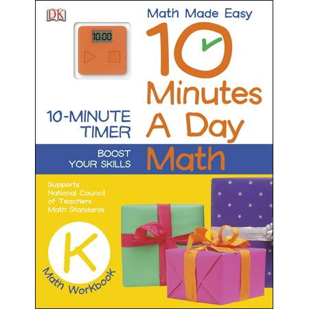 10 Minutes a Day: Math, Kindergarten : Supports National Council of Teachers Math Standards](Halloween Math Printables Kindergarten)