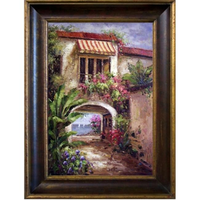 Artmasters Collection PA89451-40G Palm Retreat Framed Oil Painting