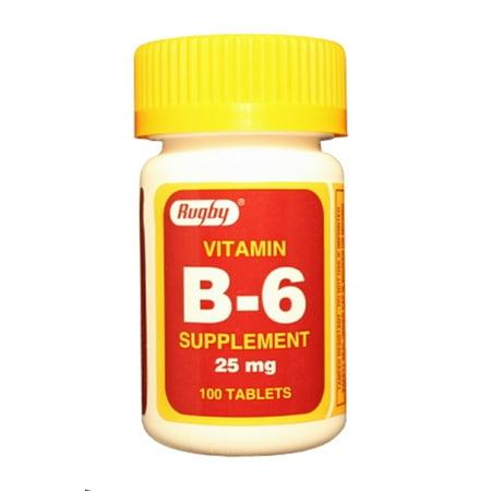 128 Rugby (Rugby B-6 25Mg Tab Pyridoxine Hydrochloride-25 Mg White 100 Tablets Upc)