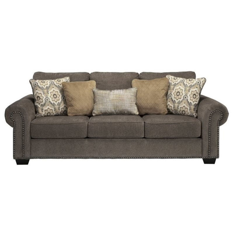 Ashley Emelen Chenille Queen Size Sleeper Sofa in Alloy Walmart