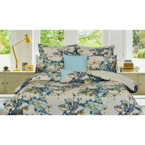 Tribeca Living Casablanca 5-piece Egyptian Cotton Floral Oversized Duvet Cover Set King/Cal King