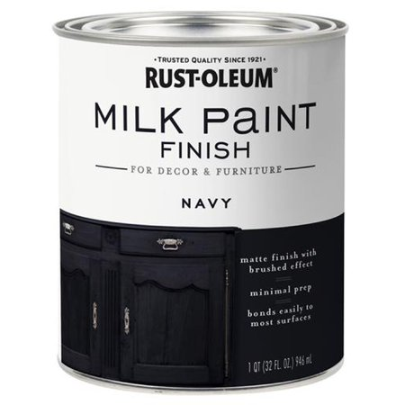 Rust-Oleum 331051 Milk Paint Finish NAVY qt