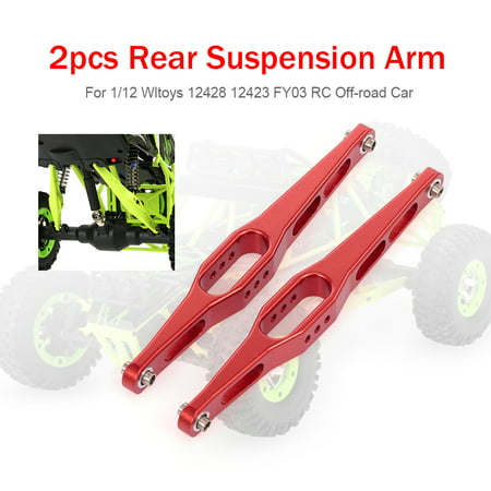 2pcs Metal Rear Suspension Arm for 1/12 Wltoys 12428 12423 FY03 Hopup Parts RC Off-road Car - Control Arms Car