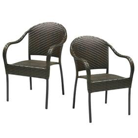 Tremendous Crosley Furniture Palm Harbor Outdoor Wicker Stackable Chairs 4Pk Creativecarmelina Interior Chair Design Creativecarmelinacom