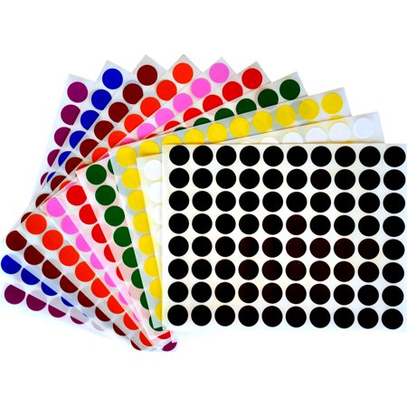 Color Dot Stickers (Color Coding Labels 1/2