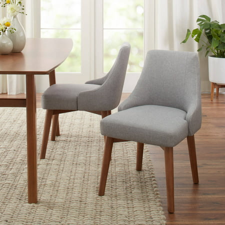 Better Homes Gardens Reed Mid Century Modern Dining Chair Set Of 2 Smoke