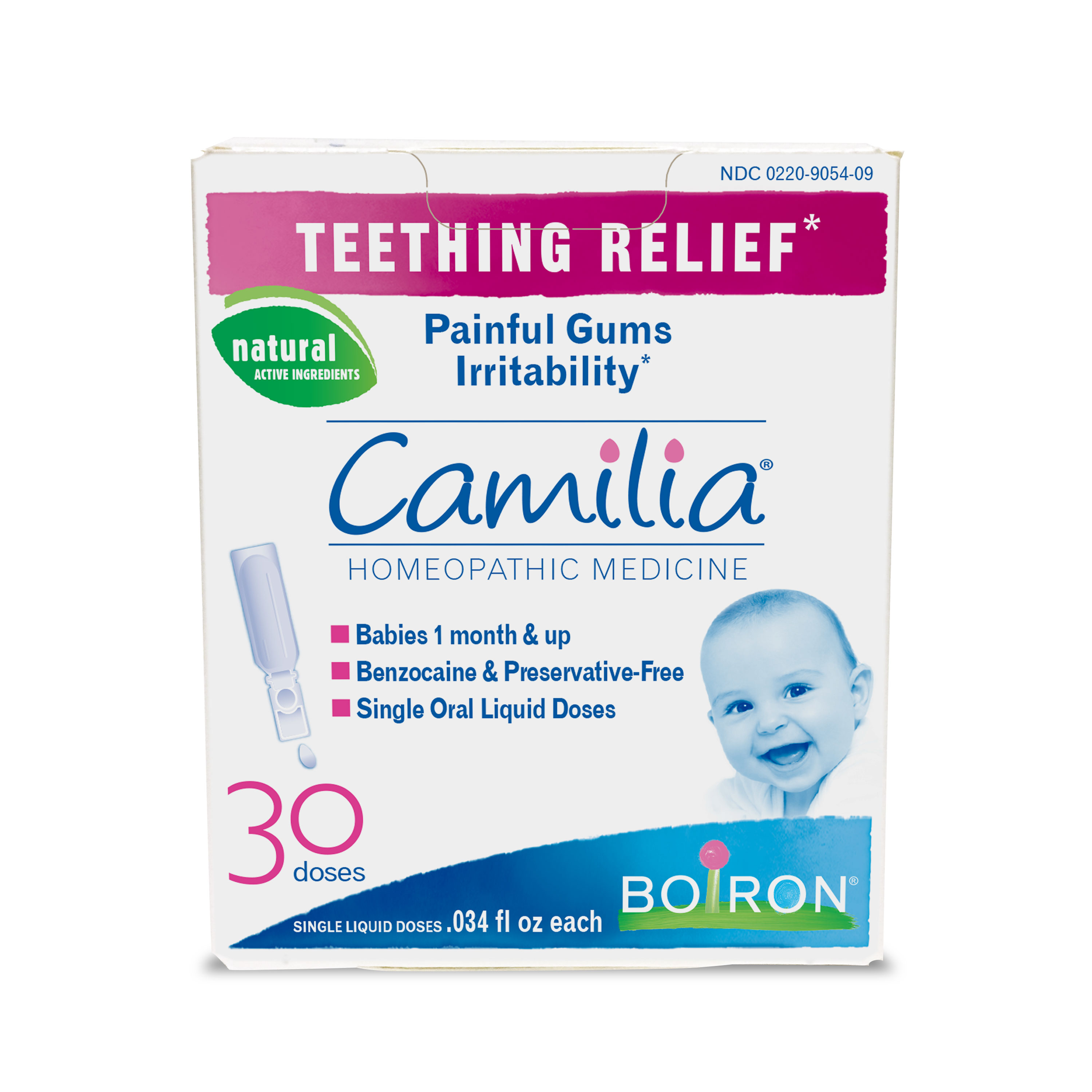 Boiron Camilia Baby Teething Relief Liquid, 30 Ct