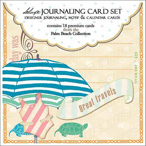 """Webster's Pages Palm Beach Double-Sided Journaling Cards, 18/pkg, Journaling, Motif & Calendar, 3.5"""" x 3.75"""""""