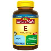 Nature Made Vitamin E 180 mg (400 IU) dl-Alpha Softgels, 300 Count