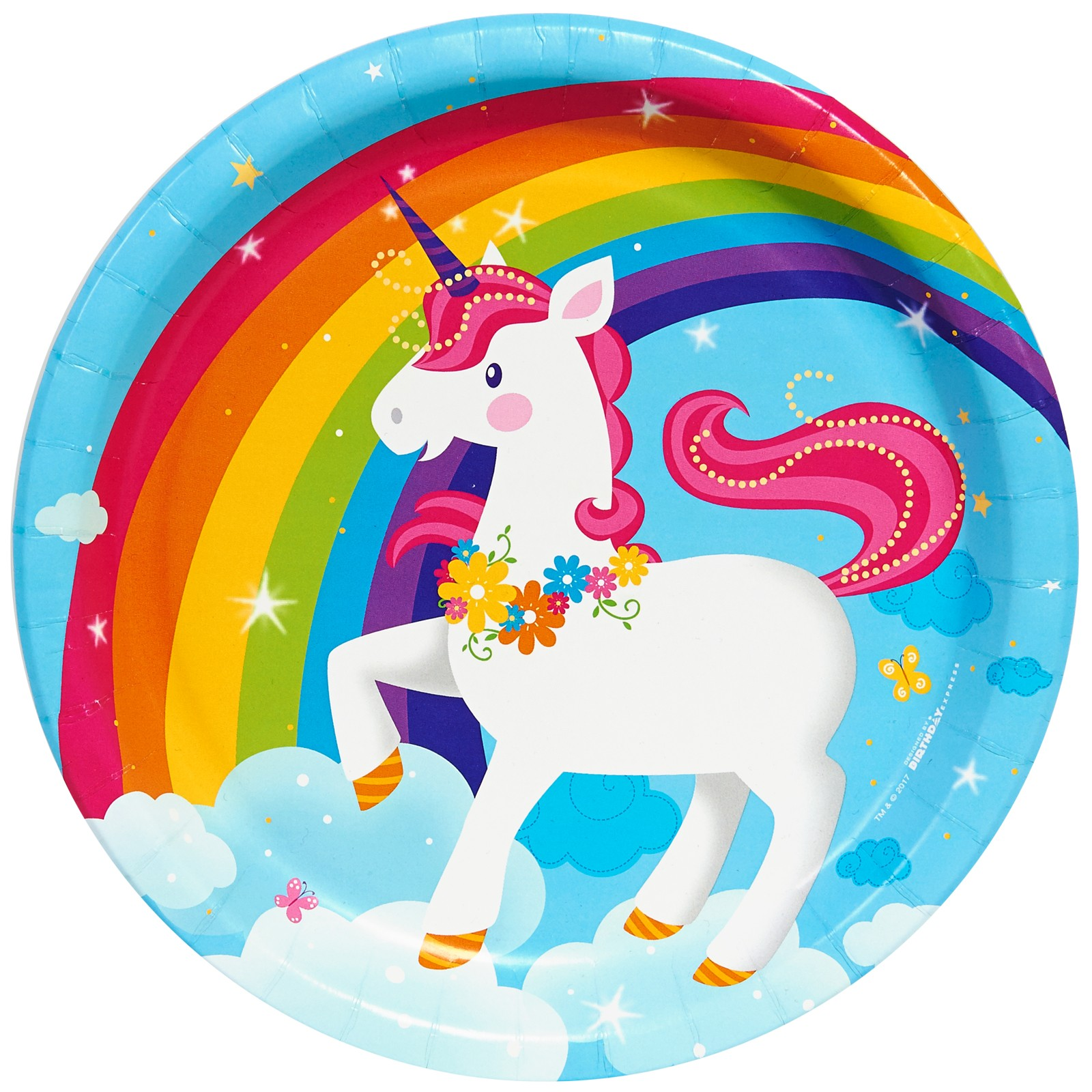 Fairytale Unicorn Party Dinner Plates (24)
