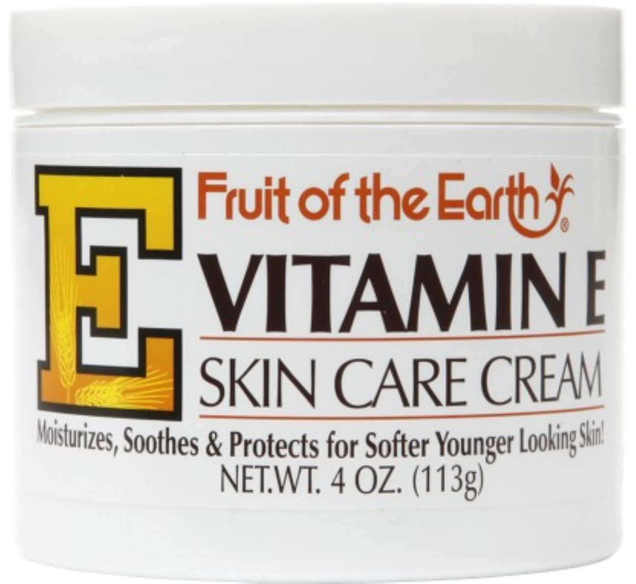 Fruit of the Earth Vitamin E Skin Care Cream 4 oz (Pack of 6)