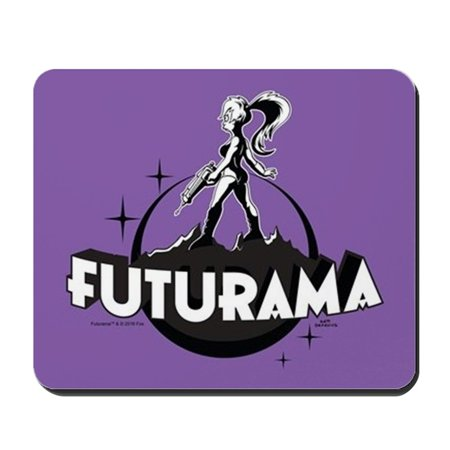 CafePress - Futurama Leela Shadow - Non-slip Rubber Mousepad, Gaming Mouse Pad - Futurama Leela