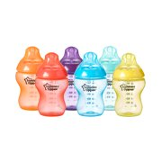 Tommee Tippee Closer to Nature Fiesta Fun Time Baby Bottles - 9 ounce, Multi-Colored, 6 Count