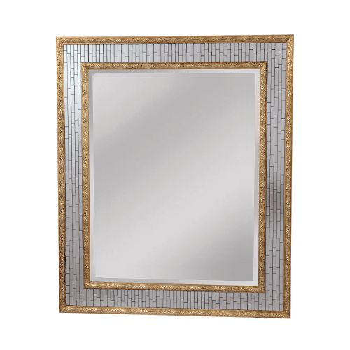 "Mirror Masters MG4030 Ambrose 33"" Rectangular Mirror with Decorative Frame by Mirror Masters"